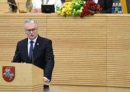 Lietuvos Prezidentas Gitanas Nausėda perskaitė pirmąjį metinį pranešimą (video)