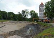 Išvalyti Panemunės pilies tvenkiniai