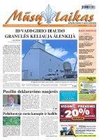 Mūsų Laikas - Jurbarko rajono laikraštis, Nr. 33 (826)