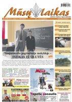 Mūsų Laikas - Jurbarko rajono laikraštis, Nr. 36 (980)