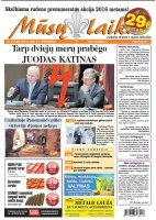 Mūsų Laikas - Jurbarko rajono laikraštis, Nr. 39 (1035)