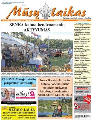 Mūsų Laikas - Jurbarko rajono laikraštis, Nr. 37 (1241)