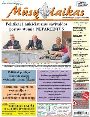 Mūsų Laikas - Jurbarko rajono laikraštis, Nr. 38 (1242)