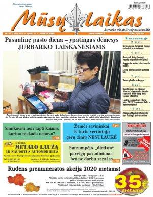 Mūsų Laikas - Jurbarko rajono laikraštis, Nr. 41 (1245)
