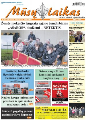 Mūsų Laikas - Jurbarko rajono laikraštis, Nr. 46 (1250)