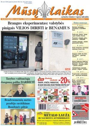 Mūsų Laikas - Jurbarko rajono laikraštis, Nr. 06 (1262)