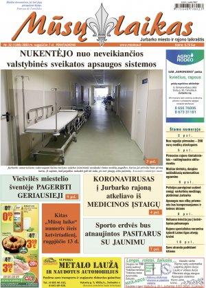Mūsų Laikas - Jurbarko rajono laikraštis, Nr. 32 (1288)
