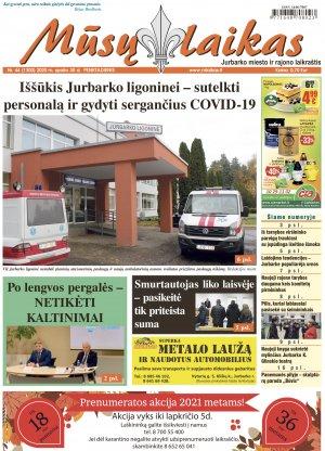 Mūsų Laikas - Jurbarko rajono laikraštis, Nr. 44 (1300)