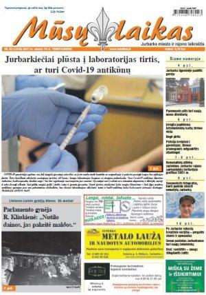 Mūsų Laikas - Jurbarko rajono laikraštis, Nr. 02 (1310)