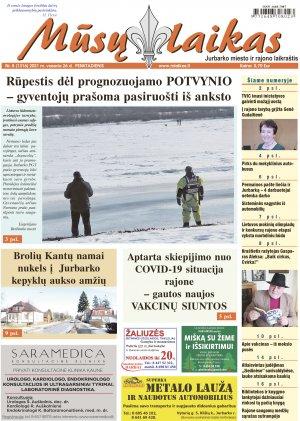 Mūsų Laikas - Jurbarko rajono laikraštis, Nr. 8 (1316)